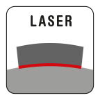 Laser-welded: 100% guarantee against tooth breakage.